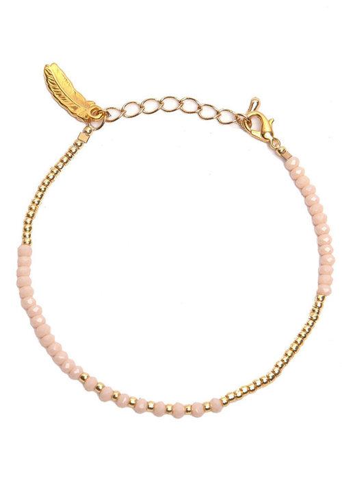 Le veer Le Veer - Luna Bracelet poeder/goud