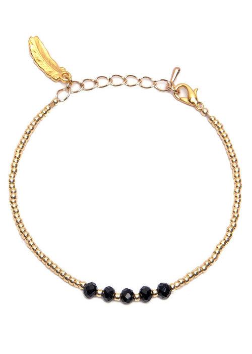 Le veer Le Veer - Zara Bracelet zwart/goud