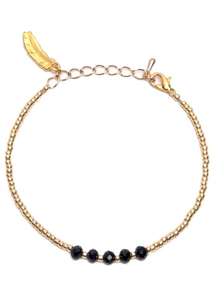 Le Veer - Zara Bracelet zwart/goud