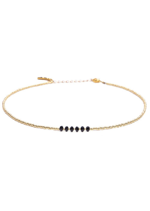 Le veer Le Veer - Zara choker zwart goud