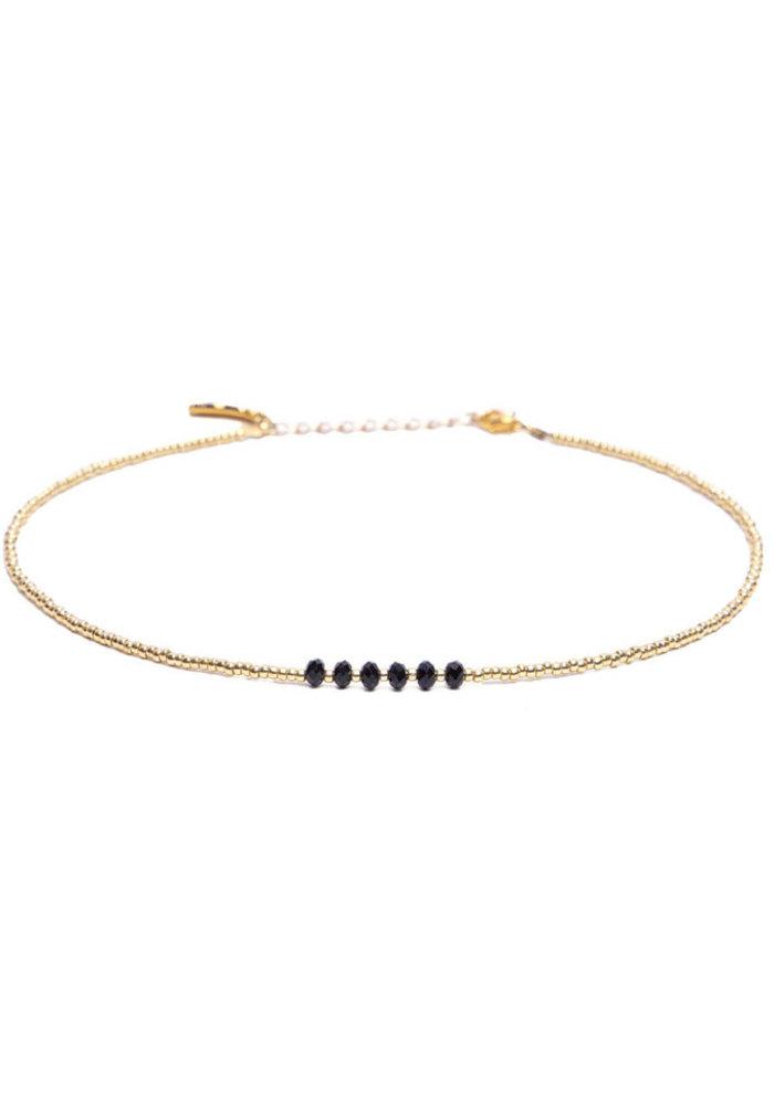 Le Veer - Zara choker zwart goud