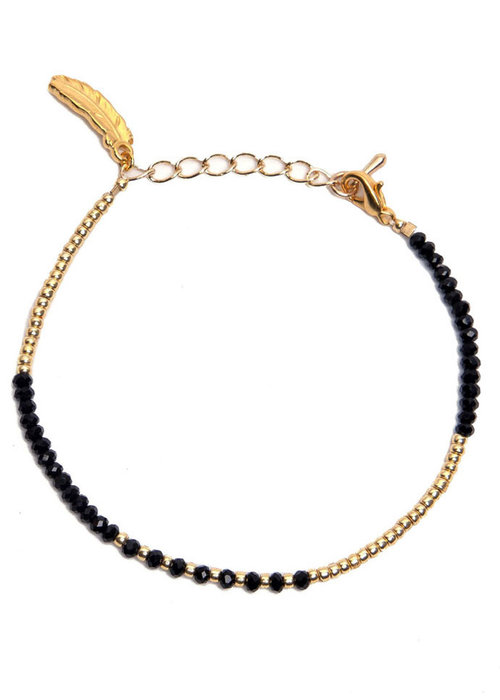 Le veer Le Veer - Luna Bracelet zwart/goud