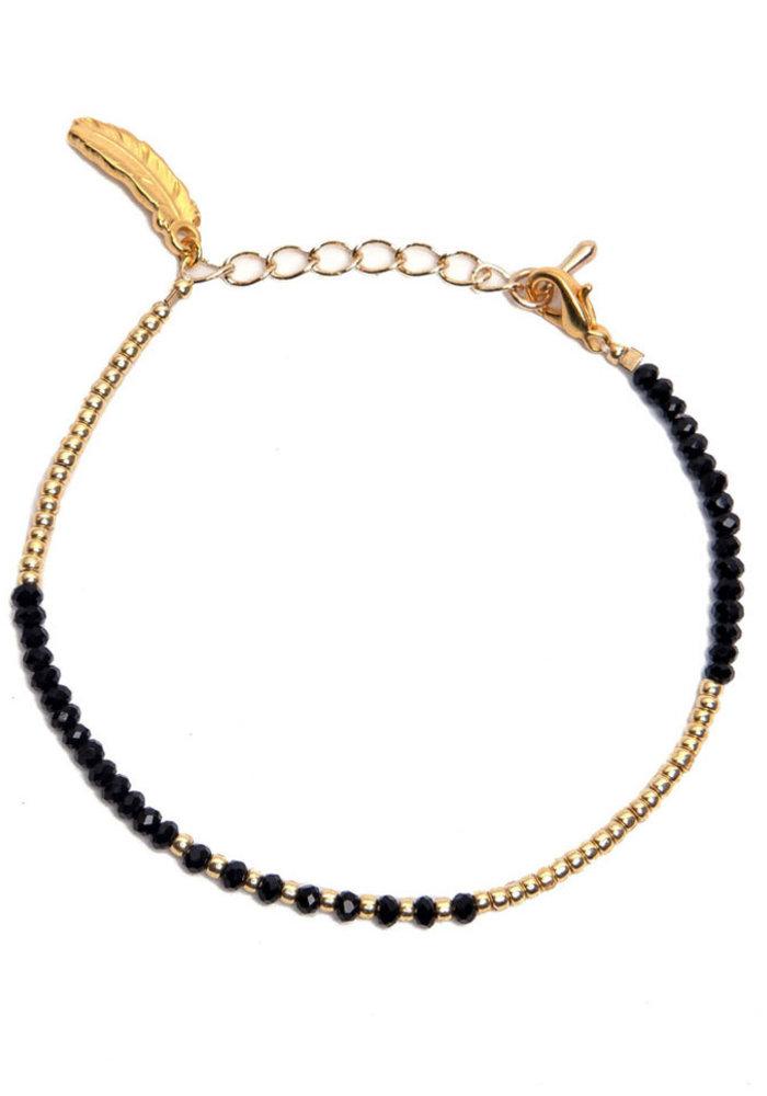 Le Veer - Luna Bracelet zwart/goud