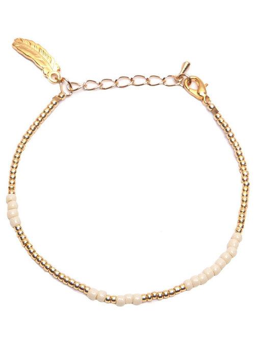 Le veer Le Veer - Anna bracelet poeder/goud