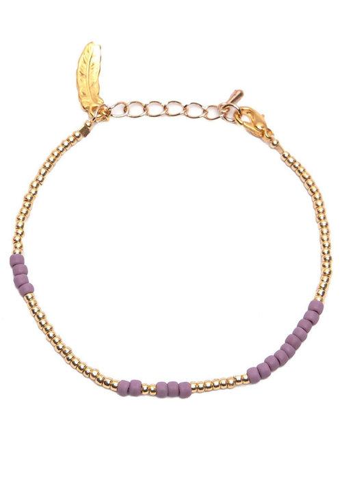 Le veer Le Veer - Anna Bracelet Paars/goud