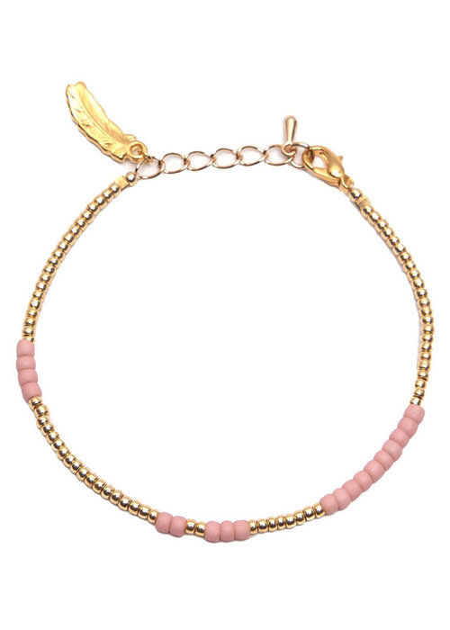 Le veer Le Veer - Anna Bracelet roze/goud