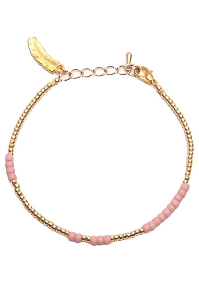 Le Veer - Anna Bracelet roze/goud