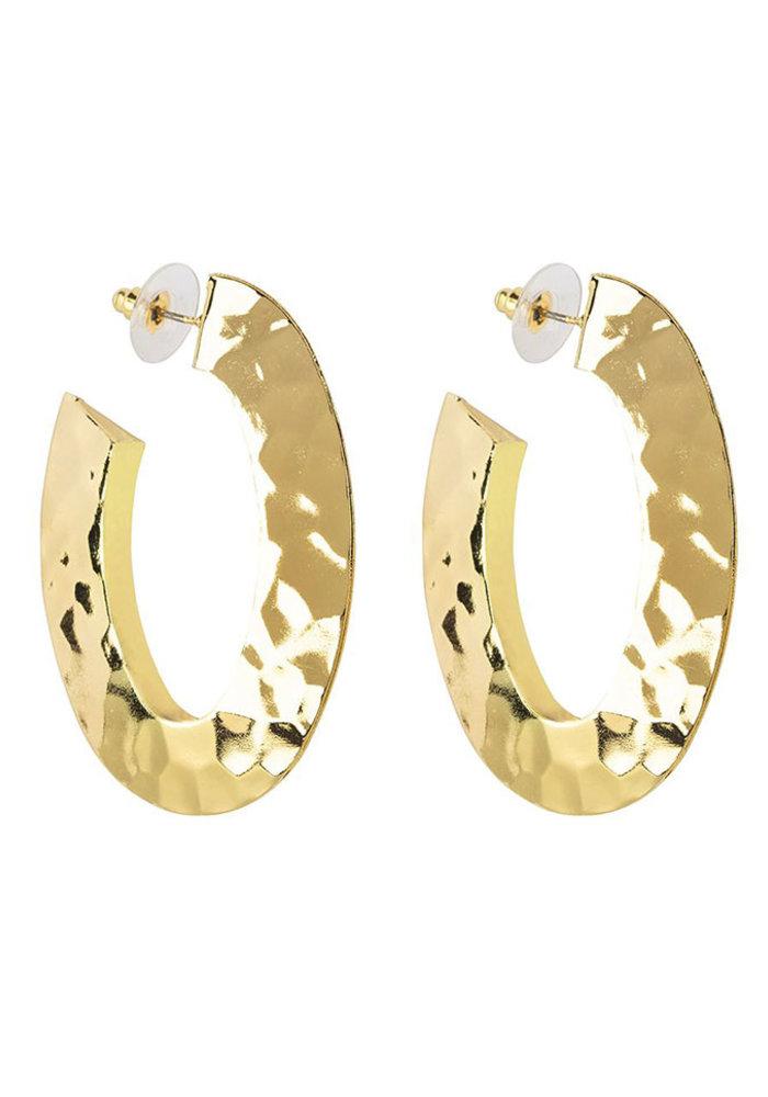 My Jewellery - Oorbellen goud gemeleerd