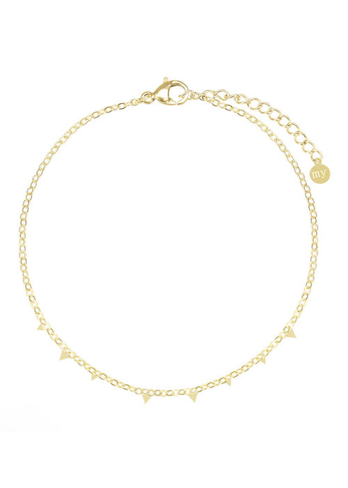 My Jewellery - armband driehoekjes goud