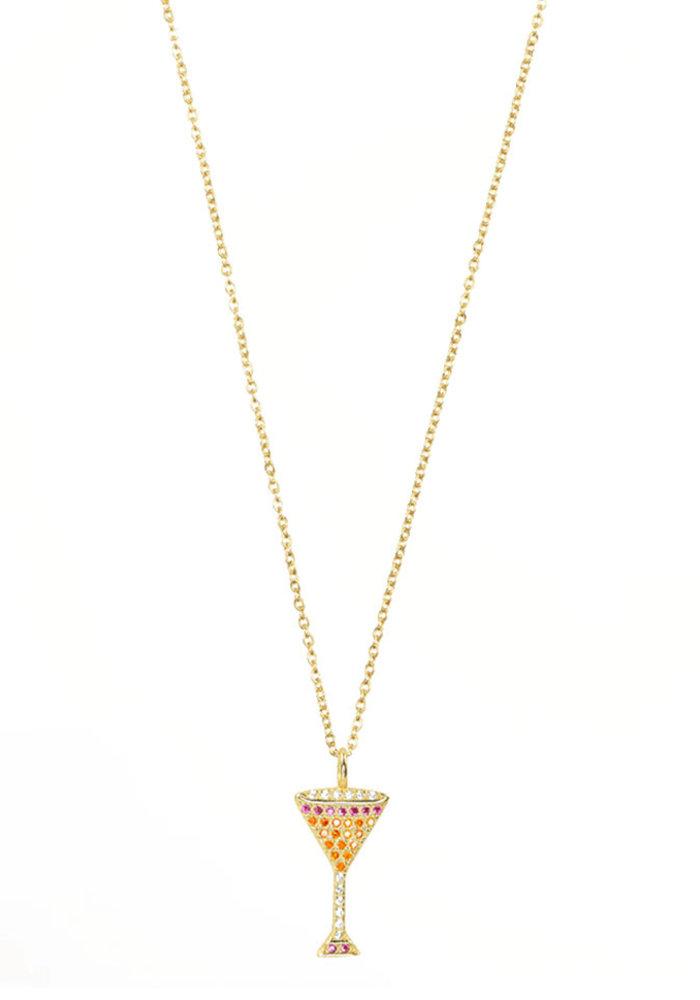 My Jewellery - Ketting met Cocktailglas