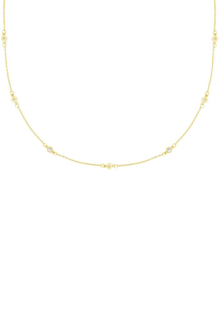 My Jewellery - Ketting met strass steentjes goud