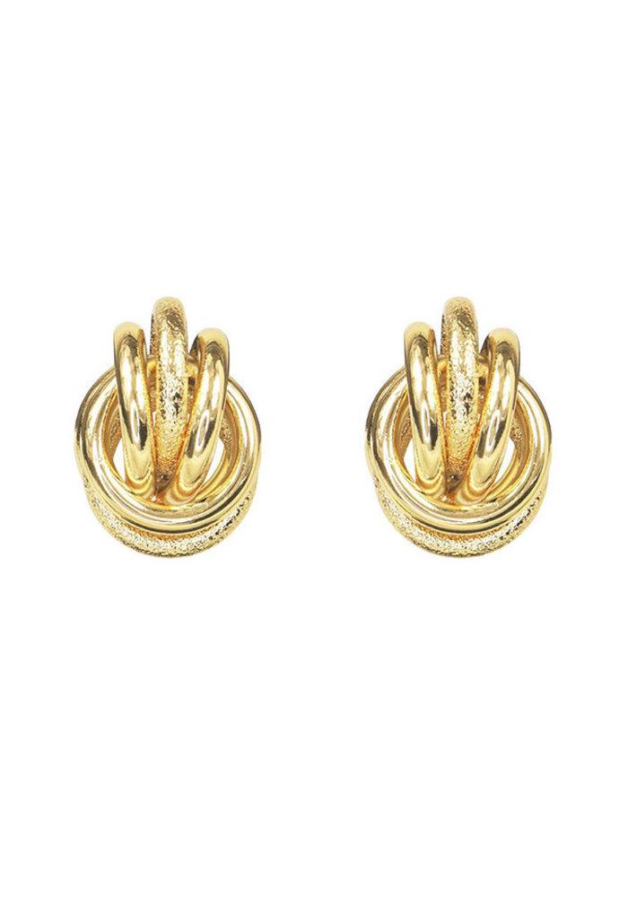 Oorhangers zes gemixte ringen