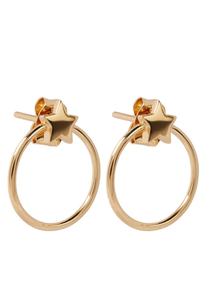 Orelia - Front Facing Metal Star Hoops