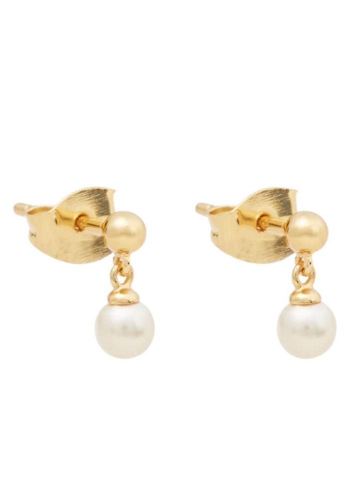 Orelia - Mini Pearl Drop Stud Earrings