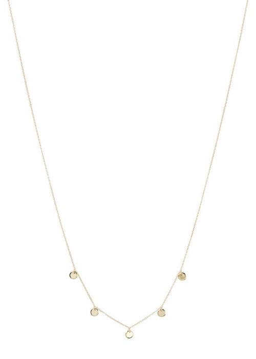 Orelia Orelia - Disc Multi Drop Short Necklace