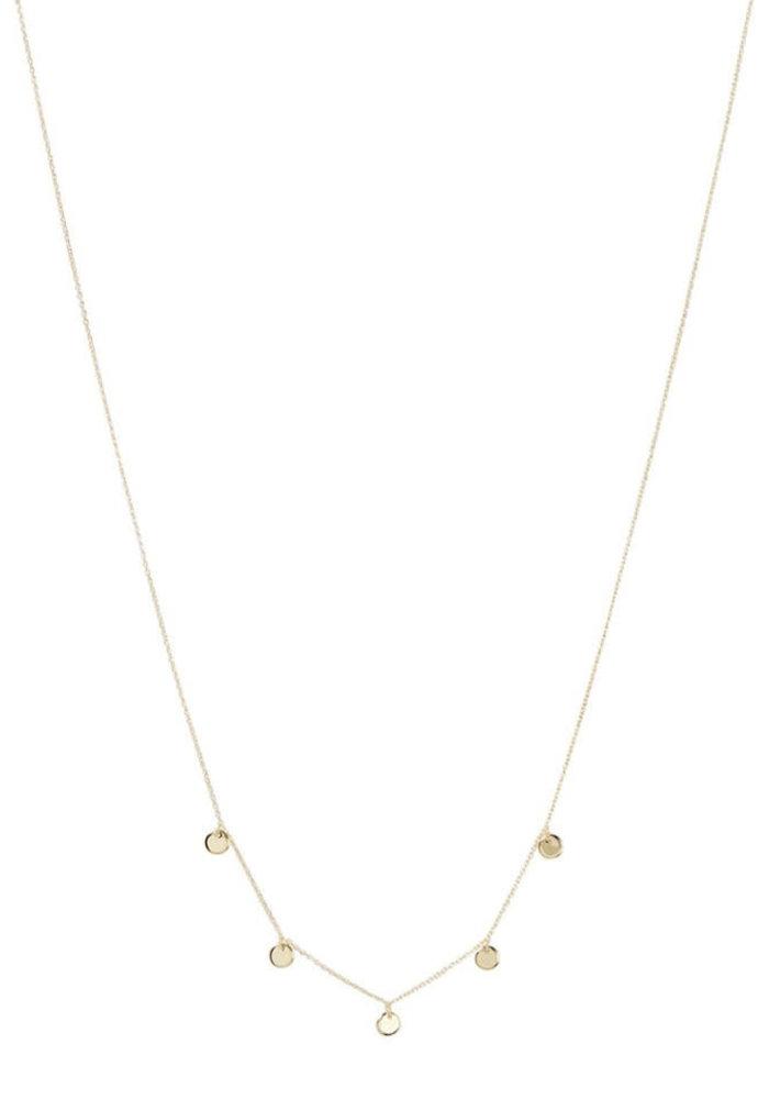 Orelia - Disc Multi Drop Short Necklace