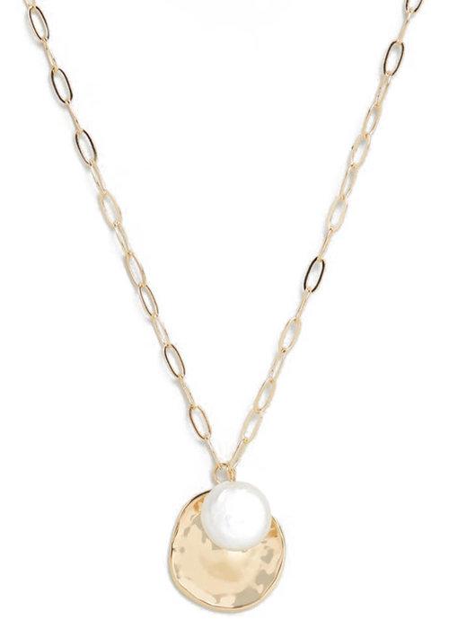 Orelia Orelia - Coin Pearl Cluster Necklace