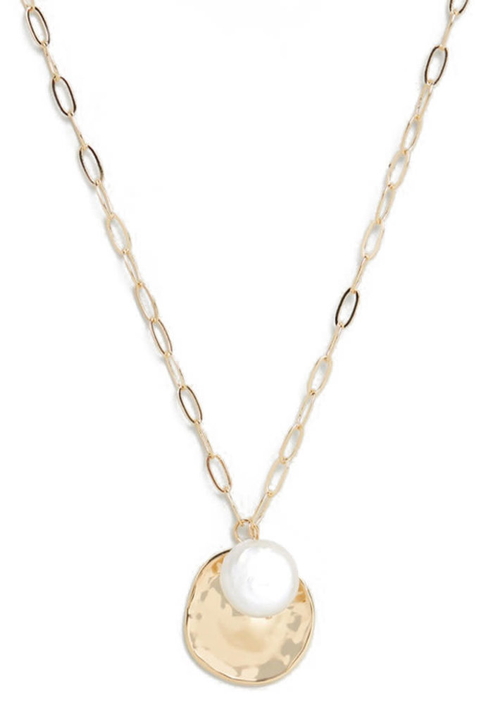 Orelia - Coin Pearl Cluster Necklace