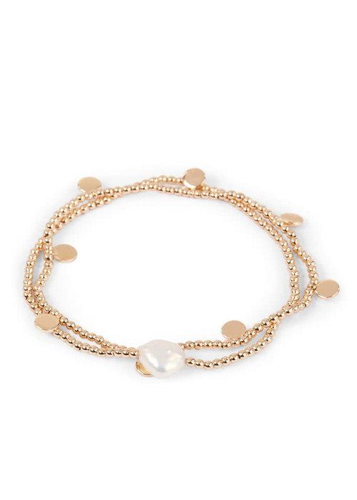 Orelia Orelia - Pearl Coin Stretch Bracelet