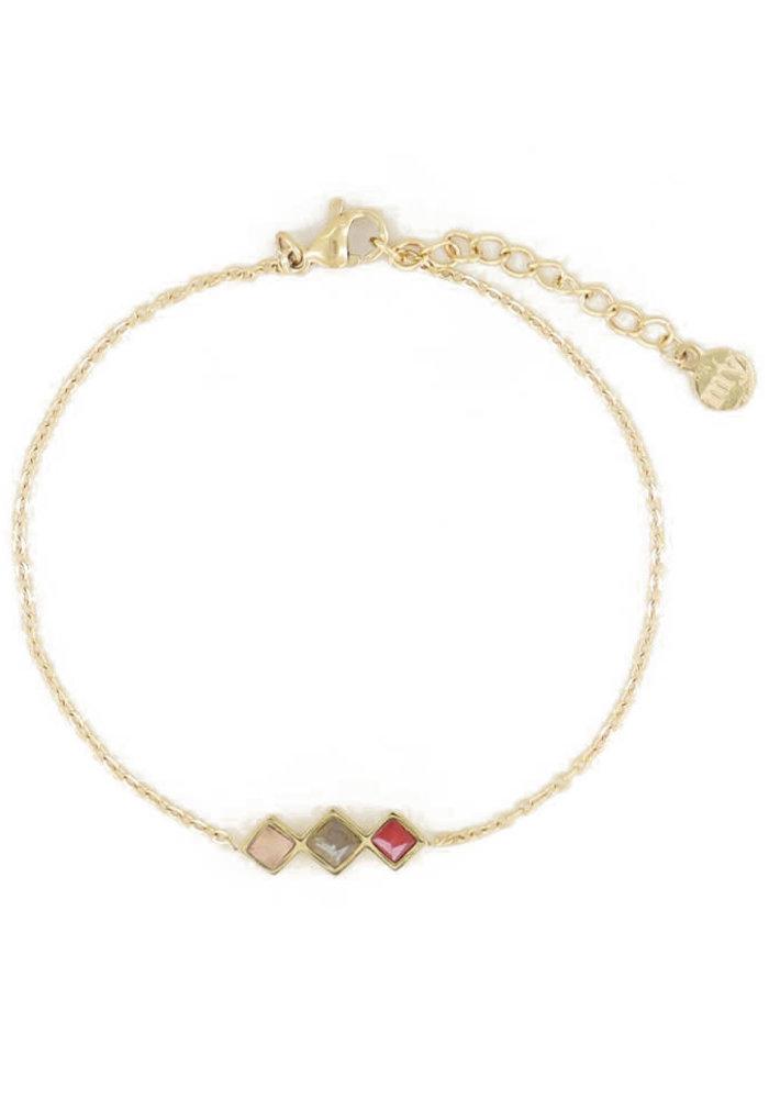 My Jewellery - Armband lichte edelsteentjes