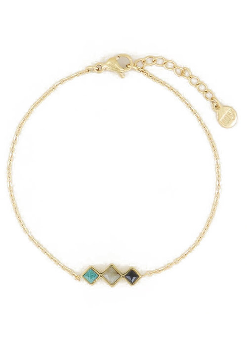 My Jewellery - Armband donkere edelsteentjes