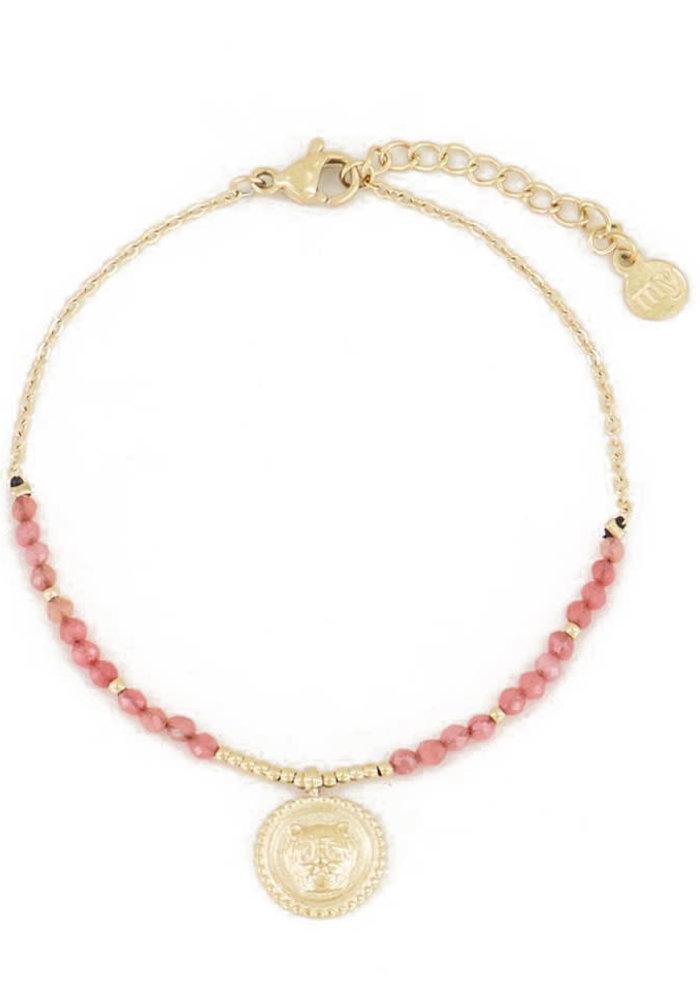My Jewellery - Armband bedel & red jade