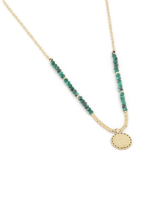 My Jewellery - Ketting bedel & Malachiet