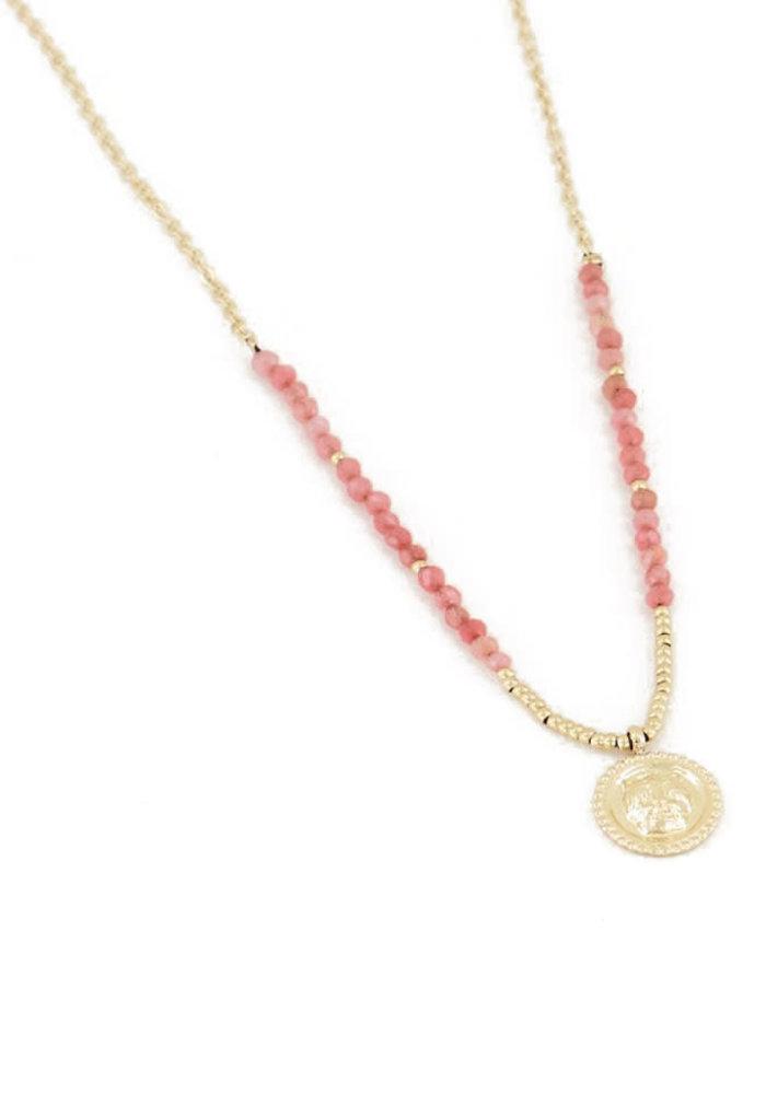 My Jewellery - Ketting bedel & red jade