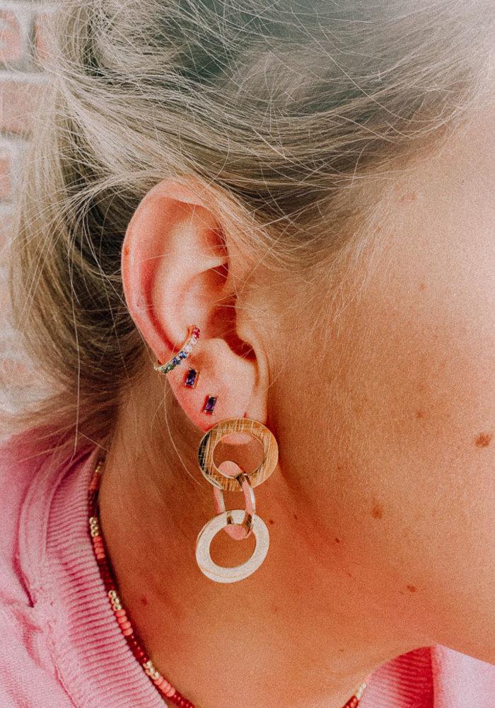 Orelia - Pave Rainbow Single Ear Cuff