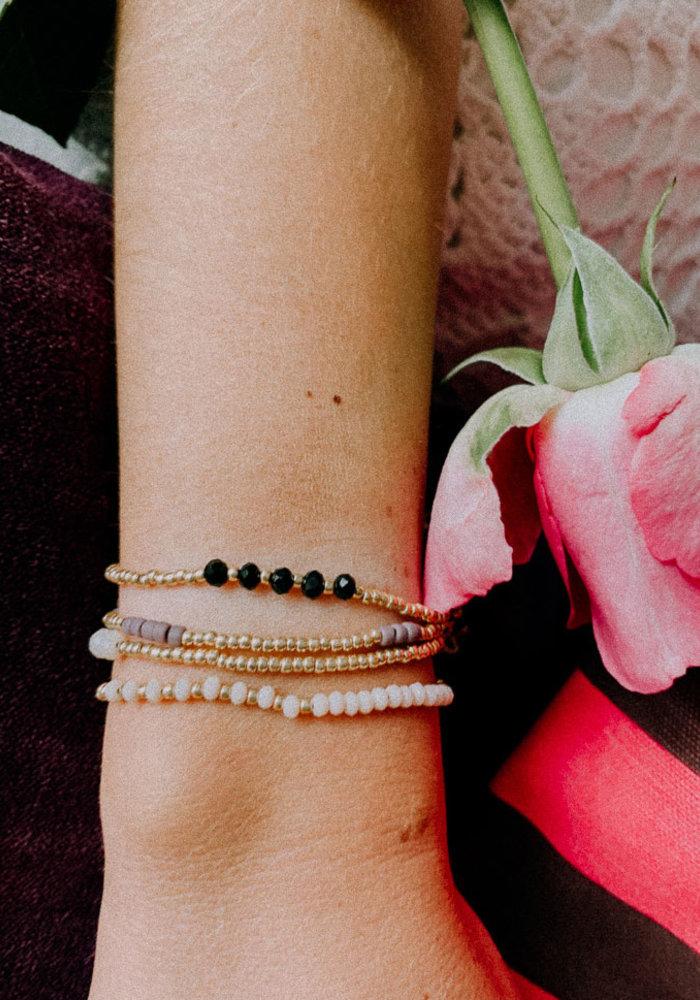 Le Veer - Anna bracelet poeder/goud