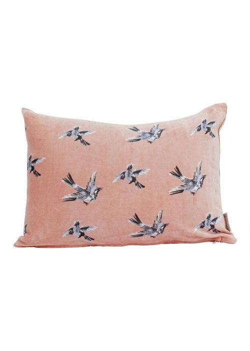 Trends & Trade Swinging bird roze - Kussen