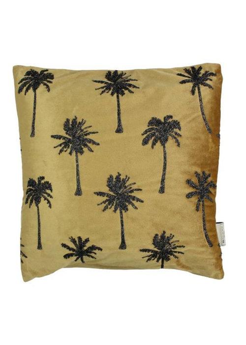 Trends & Trade Palmboom velvet goud - Kussen