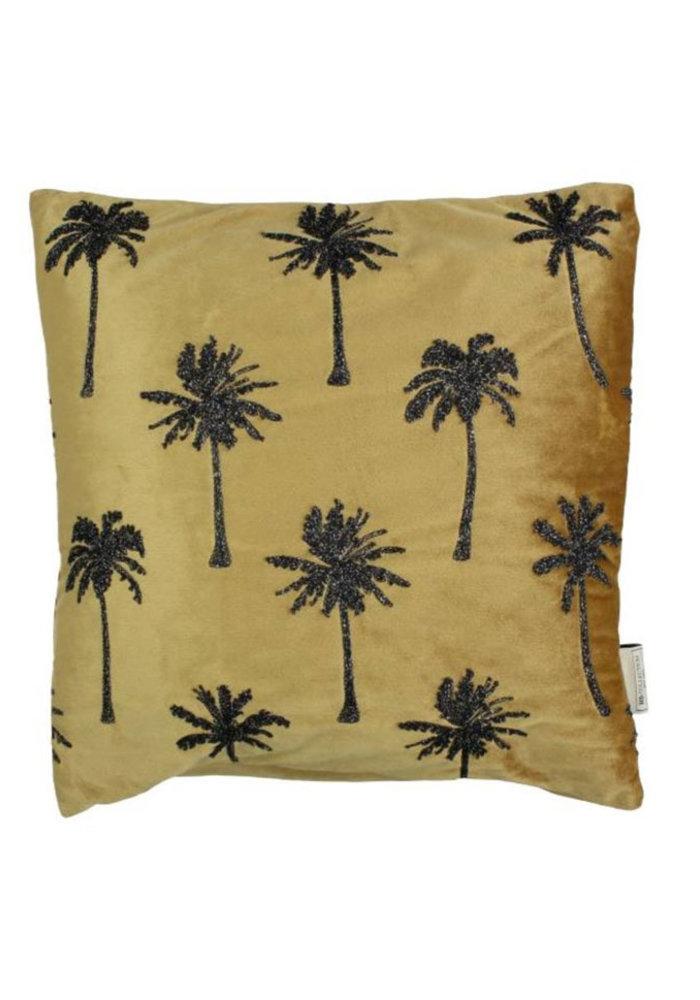Palmboom velvet goud - Kussen