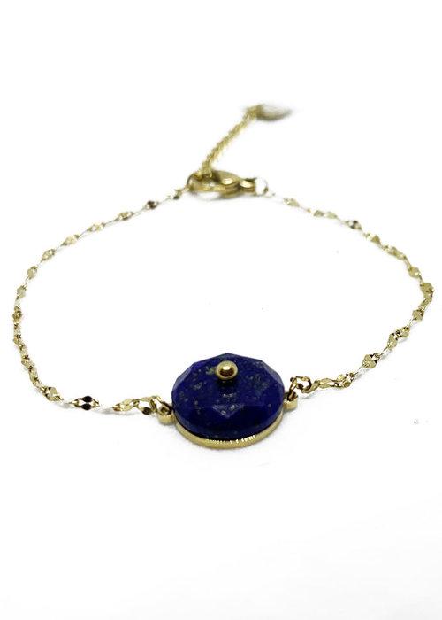 Zag Bijoux ZAG - Armband Luxury chain blue