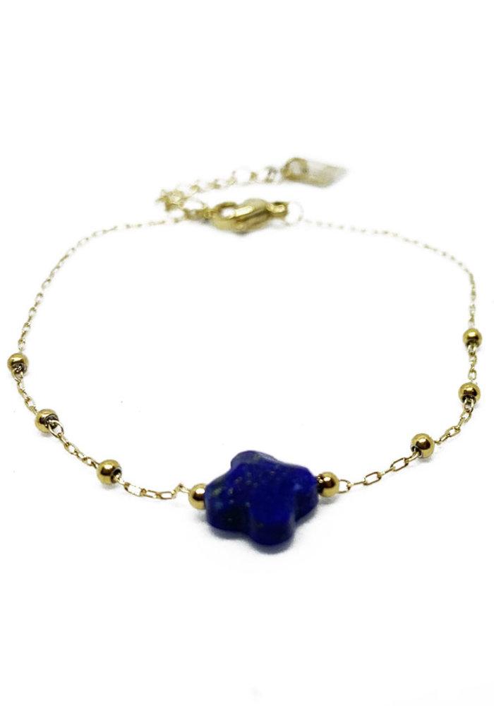 ZAG - Armband klaver blue