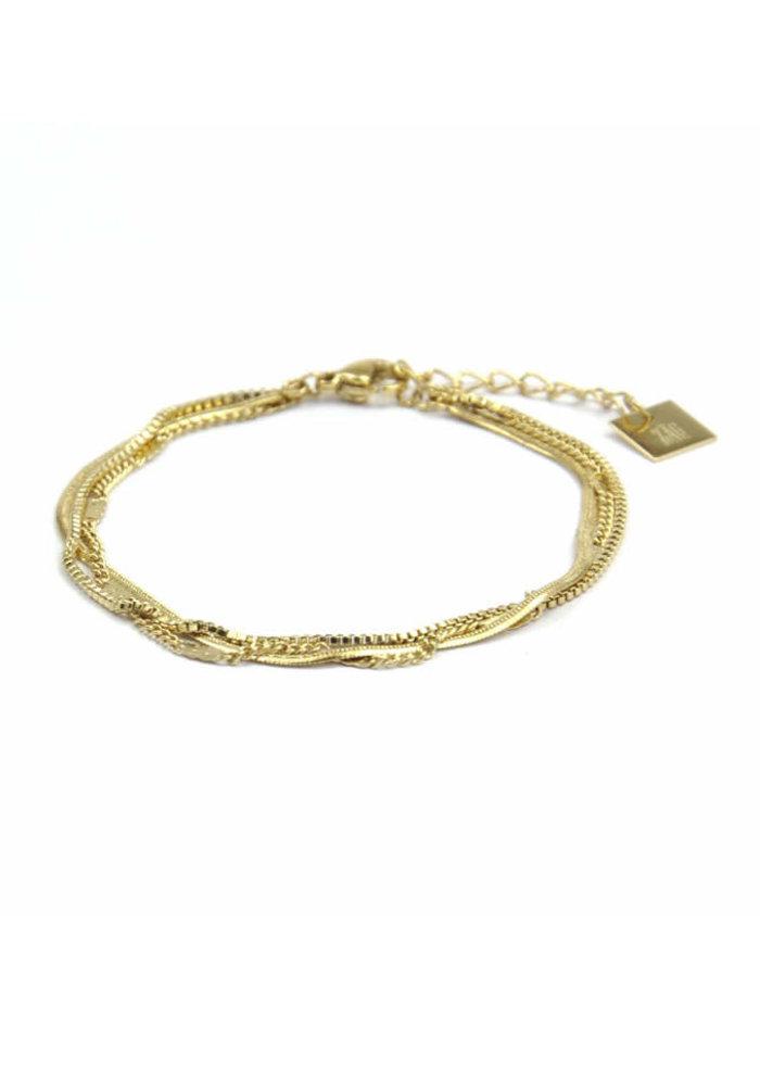 ZAG - Armband Flat gold