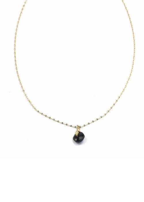 Zag Bijoux ZAG - Ketting luxury chain black onyx stone