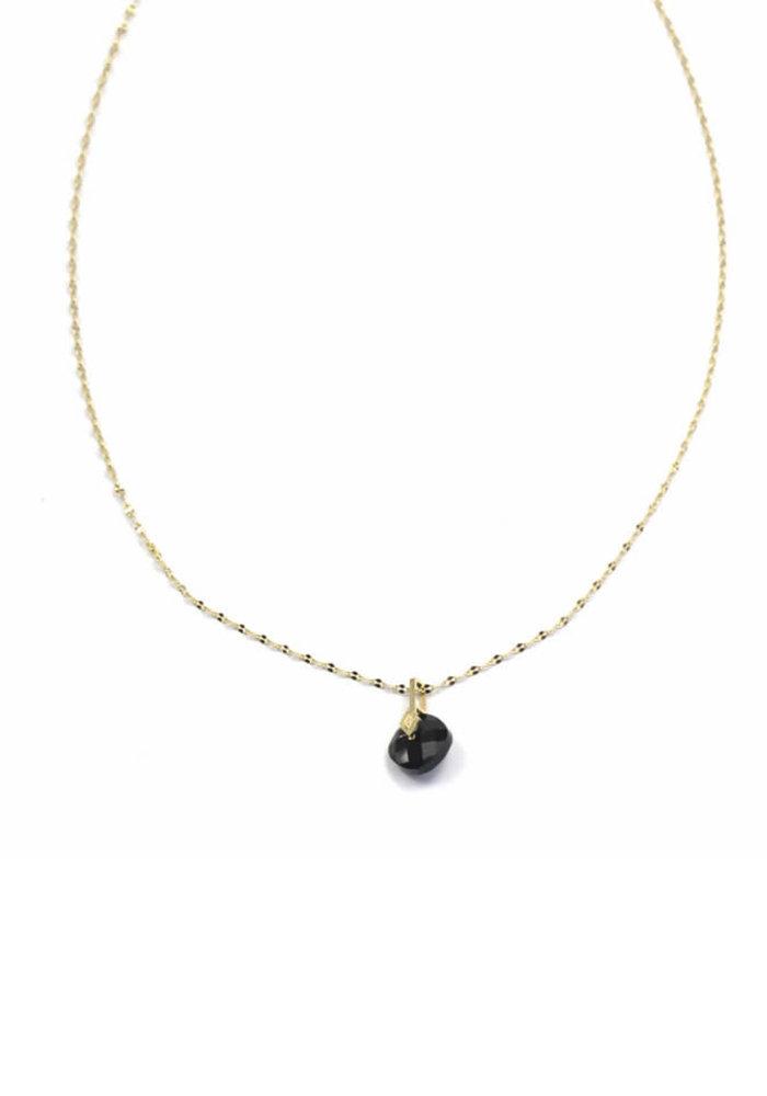 ZAG - Ketting luxury chain black onyx stone