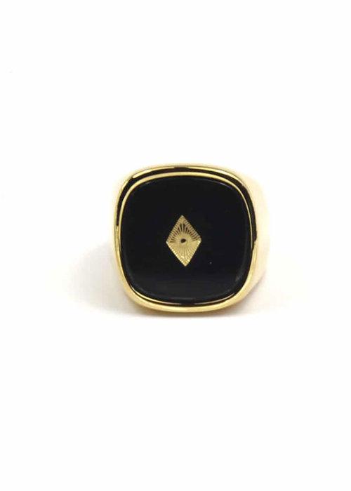 Zag Bijoux ZAG- Ring Black Onyx stone