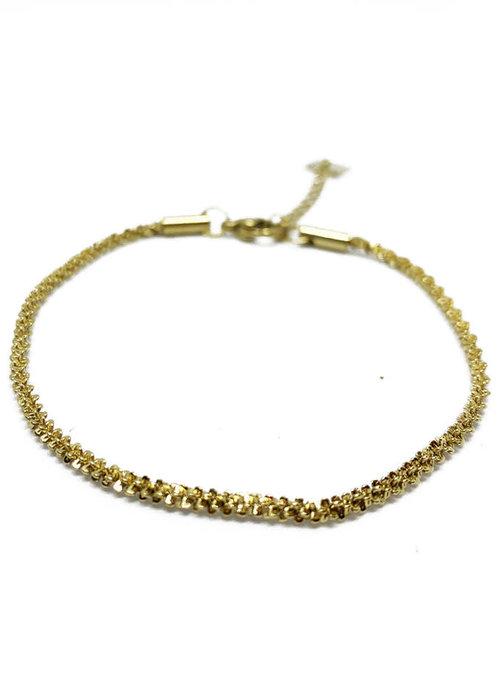 Zag Bijoux ZAG- Armband twisted gold