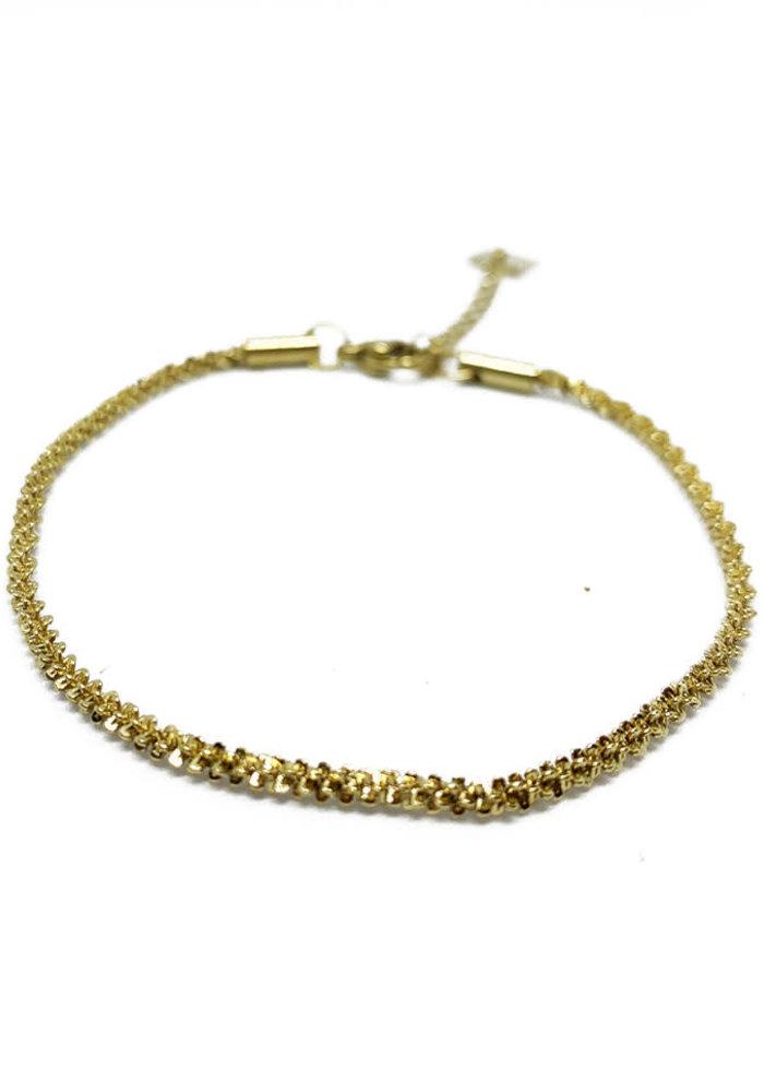 ZAG- Armband twisted gold