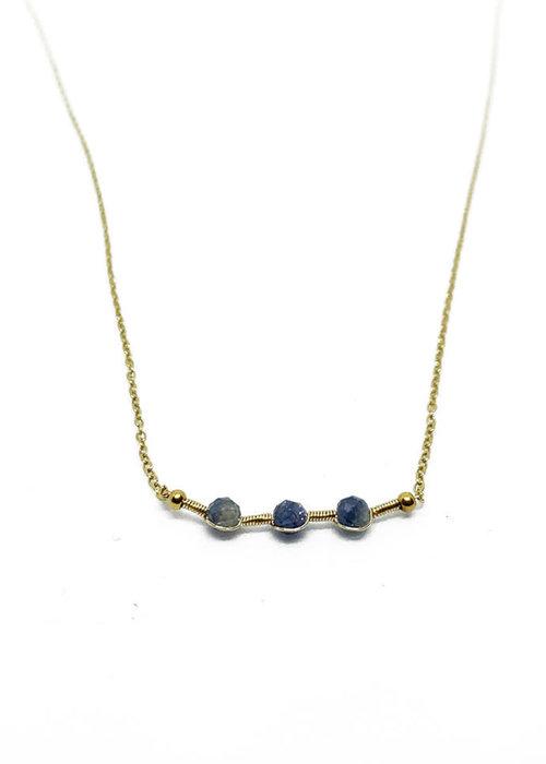 Zag Bijoux ZAG- Ketting gold dark blue