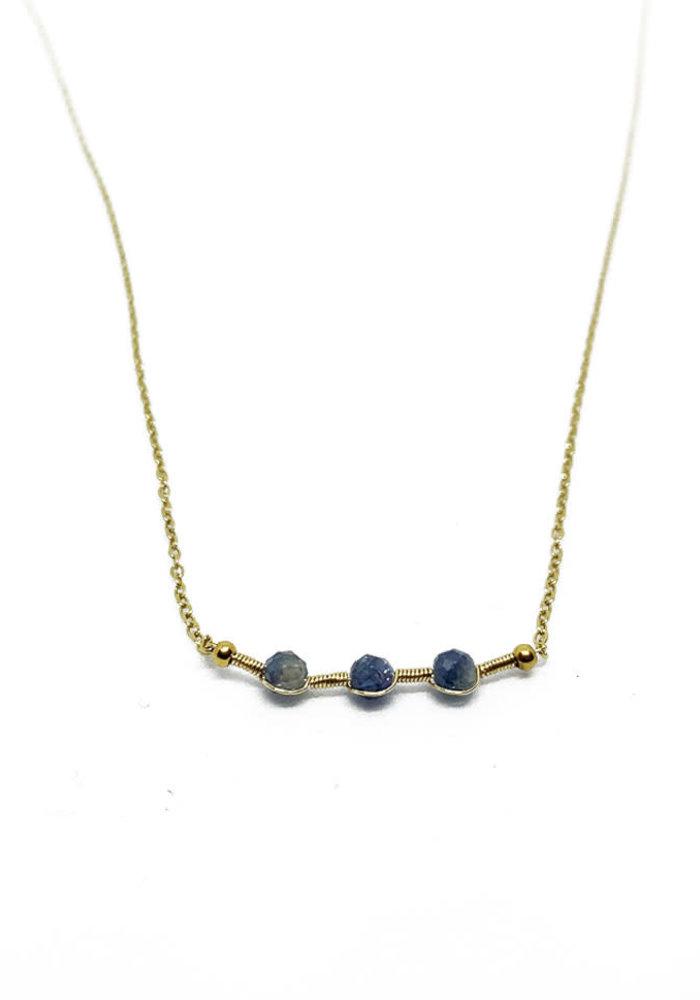 ZAG- Ketting gold dark blue