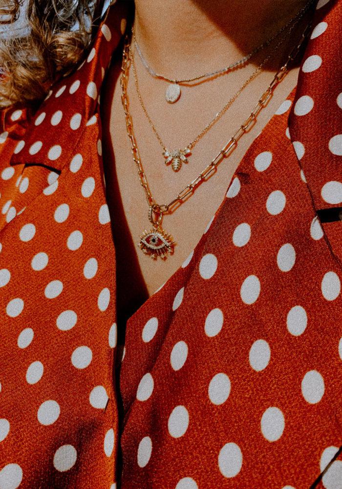 My Jewellery - Ketting Bijtje Strass