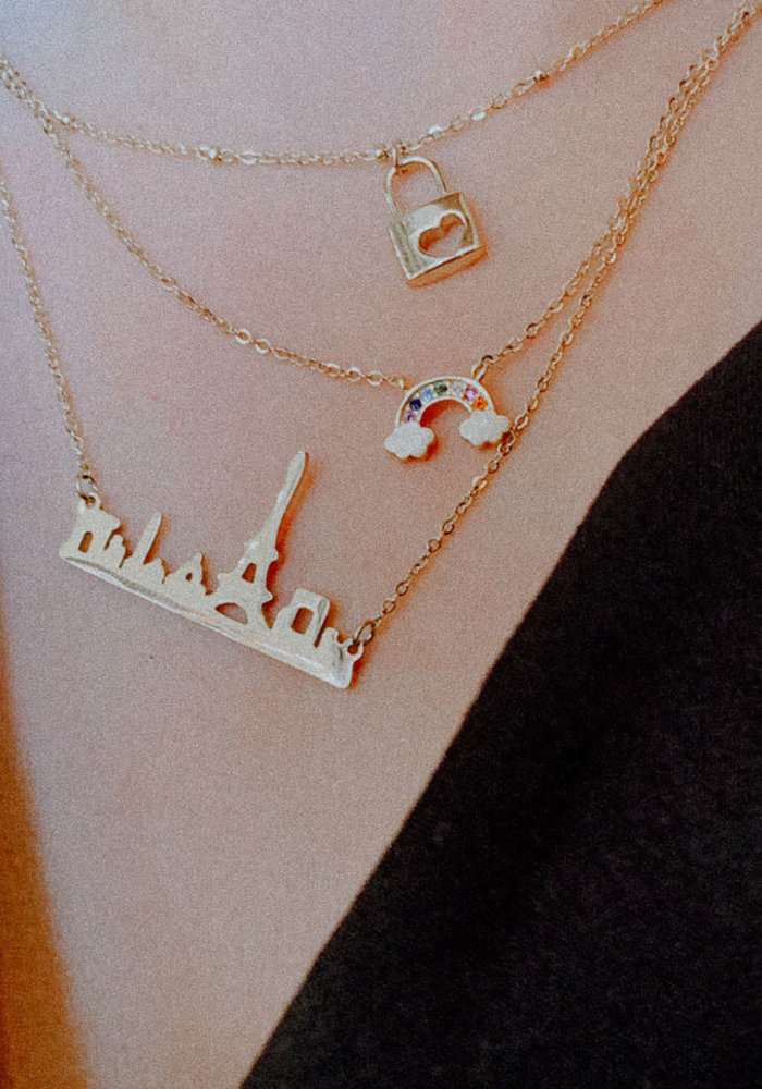 My Jewellery - Ketting slot hartje