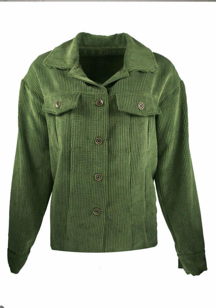 Corduroy Green - Blouse