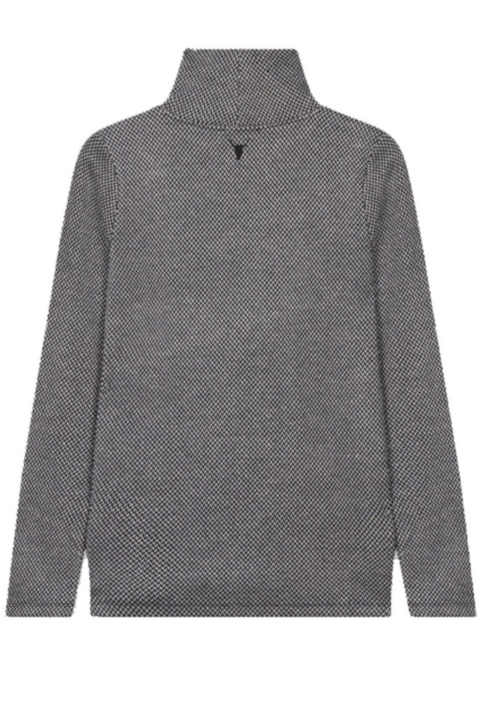 Alix - Knitted long sleeve herringbone top