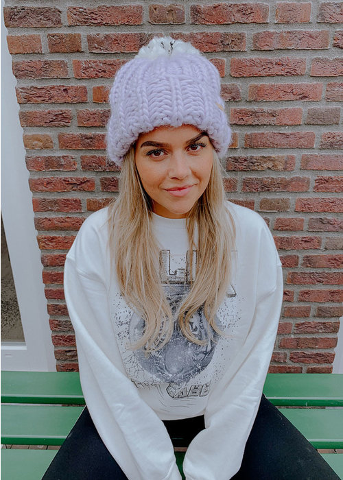 Alix - ladies knitted washed tiger sweater