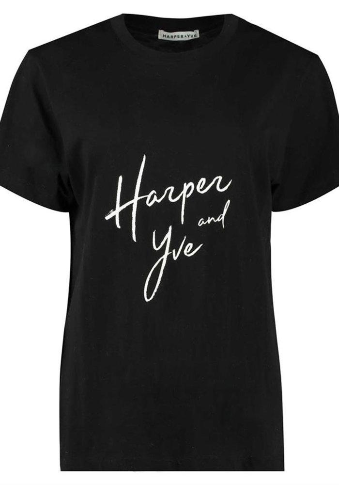 Harper & Yve - Logo Tee Zwart