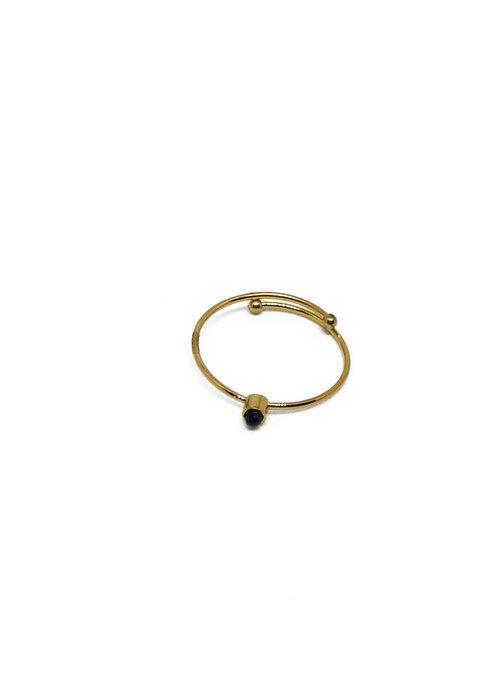 Zag Bijoux ZAG - Ring Black Stone